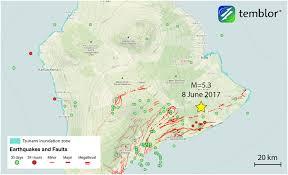 Map Of Hawaii Island From Temblor U201cm U003d5 3 Earthquake Shakes Hawaii U0027s Big Island