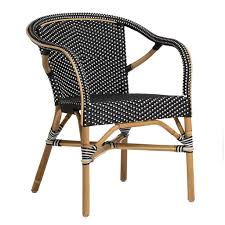 Stackable Outdoor Dining Chairs Madeleine Bistro Arm Chair Bistro Chairs Outdoor Dining And
