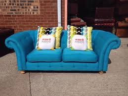 Dfs Chesterfield Sofa Stunning Blue Dfs Chesterfield 2 Seater Sofa Aherns Furniture
