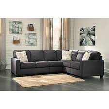 Rent Living Room Furniture Rent To Own Alenya Charcoal 3 Sectional