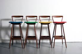 danish bar stools danish modern hansen teak bar stools denmark 1960 s mid century