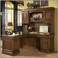 Computer Desk With Hutch Cherry Corner L Shaped Office Desk With Hutch Black And Cherry Naindien
