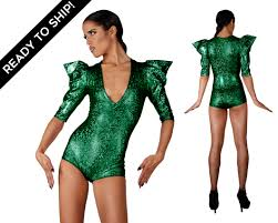 bodysuit in holographic green halloween costume poison ivy