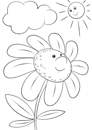 cartoon flower character coloring free printable coloring pages