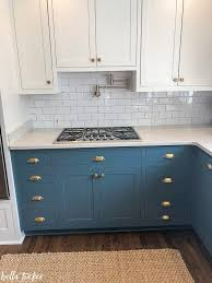 houzz blue kitchen cabinets blue and white two toned kitchen cabinets tucker