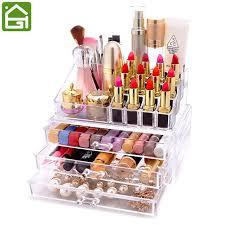 Makeup Organizer Desk Clear Acrylic Cosmetic Organizer Box Makeup Storage Drawer Desk