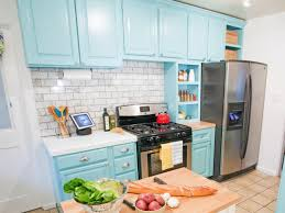 best way to paint kitchen cabinets hgtv pictures u0026 ideas how
