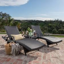 Patio Furniture Chaise Lounge Patio Chaise Lounges Joss U0026 Main