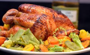 cuisiner un poulet entier poulet laqué au miel et au gingembre les délices de vanish