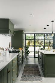 green kitchen cabinets green kitchen inspiration for modern updates purewow