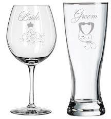 halloween wedding toasting glasses amazon com bride groom toasting glasses engagement wedding