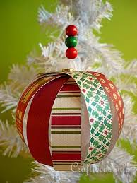 paper crafts for create a delicate tree ornament