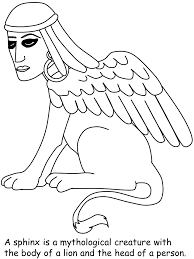 sphinx egypt coloring pages u0026 coloring book