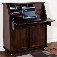 Corner Computer Desk With Hutch by Furniture Oak Secretary Desk With Hutch On Parkay Floor With