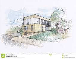 modern house architecture sketch modern architecture drawing top