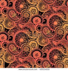 henna tattoo indian mehndi pattern black stock vector 457516918