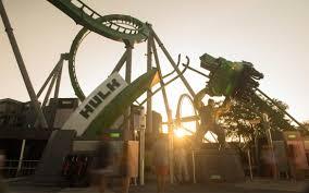 halloween horror nights rides universal orlando close up the incredible hulk coaster has