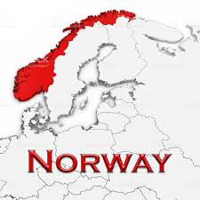 Map Of Norway 3d Map Of Norway With Country Name Highlighted Red On White