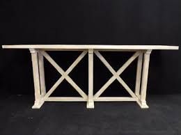 X Base Console Table Croix Console With Double X Base Mecox Gardens