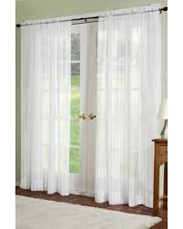 Sheer Off White Curtains Incredible Deal On Residence Linen Sheer Look Collection Dylan