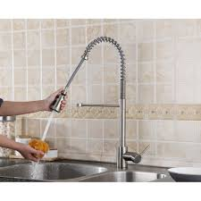 Pull Out Sprayer Kitchen Faucet Ruvati Rvf1215st Commercial Style Pullout Spray Kitchen Faucet