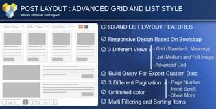 layout page null nulled advance post grid list with custom filtering for visual