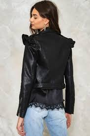 moto jacket elena vegan leather moto jacket shop clothes at nasty gal