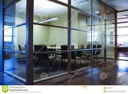 glass walls office conference room with glass walls royalty free stock
