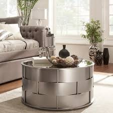 Mirrored Top Coffee Table Mirror Top Metal Accent Coffee Table By Inspire Q Bold