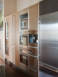 Microwave And Toaster Oven In One Interesting Kitchen All Appliances On One Wall Double Oven