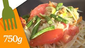 cuisiner la papaye recette de salade de papaye verte 750 grammes