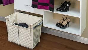 three section reach in classic white closet design