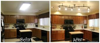 Track Lighting In Kitchen Schönheit Led Track Lighting Kitchen Before After 2 9263 Kitchen