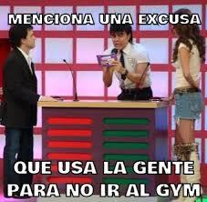 Memes Gym - menciona una excusa que usa la memes en quebolu