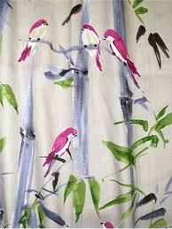 Bird Print Curtain Fabric Honolulu Rainbow Luxurious Digital Watercolor Avery U0026 Floral