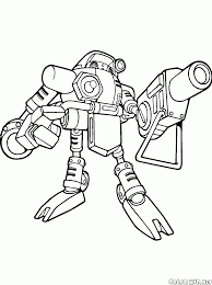 coloring page robot gamma