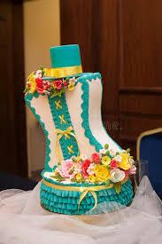 beautiful turquoise wedding cake stock image image 40058293