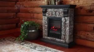 electric rock fireplace fire