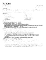 How To Make A Good Fake Resume Simple Call Center Representative Resume Example Livecareer
