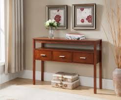 Entryway Console Table With Storage Walnut Wood Contemporary Occasional Entryway Console Sofa Table