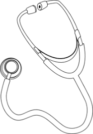 Stethoscope Coloring Page stethoscope clip at clker vector clip