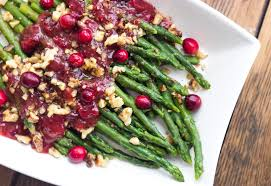 thanksgiving countdown asparagus with cranberry honey vinaigrette