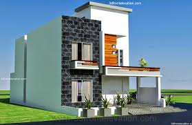 3d front elevation com modern architecture house plan corner plot