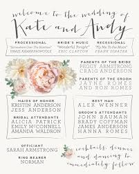wedding program sign wedding stationery kate andy alisa bobzien wedding