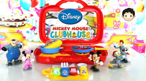 Mickey Mouse Kitchen Set by Disney Mickey Mouse And Friends Kitchen Table Ware Playset Video I