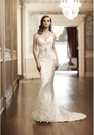 satin strapless sweetheart mermaid wedding dress bride
