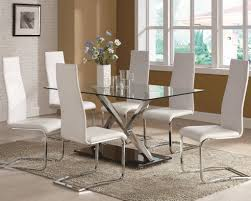 Glass Top Dining Table Set by Modern Glass Dining Room Tables Best 25 Glass Dining Table Set