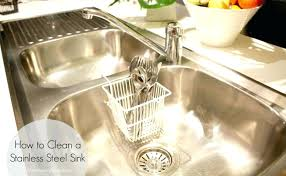 How To Clean Kitchen Sink With Baking Soda Stainless Steel Baking Soda I Put About A Tablespoon Of Baking