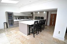kitchen centre island handleless kitchen with island breakast bar keller design