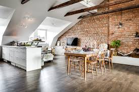 brick wall apartment a gorgeous attic apartment with a brick wall daily dream decor